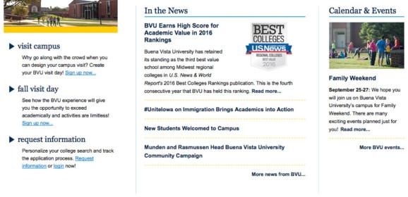 Buena Vista University – Storm Lake, IA   Iowa Higher Education Center