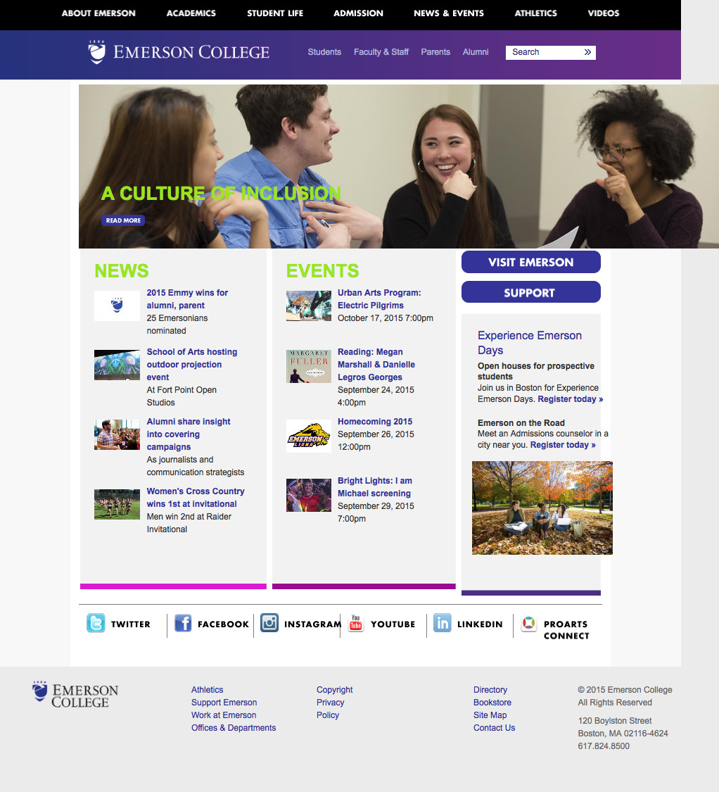 emerson college honors program essay Emerson is an above-average private college located in boston, massachusetts it is a small institution with an enrollment of 3,733 undergraduate students admissions is fairly competitive as the emerson acceptance rate is 48.