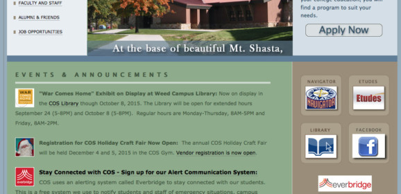 College Of The Siskiyous –  | California Higher Education Center