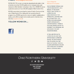 Ohio Northern University –    Ohio Higher Education Center
